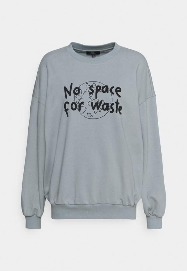 NO WASTE - Sweater - storm gray