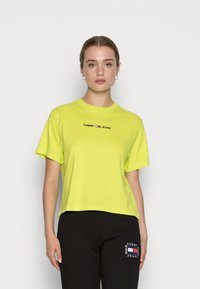 Tommy Jeans - LINEAR LOGO TEE - Basic T-shirt - neo lime - 0