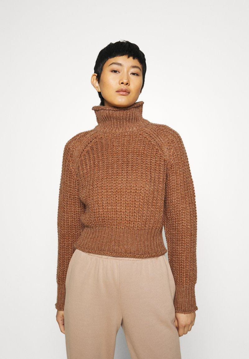 Third Form - OWN BEAT CHUNKY TURTLENECK - Jumper - nutmeg
