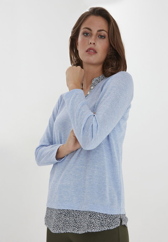 Sweter - brunnera blue melange