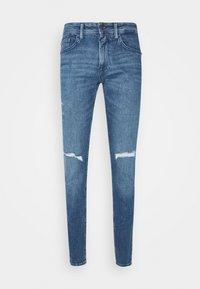 CULVER DESTROYED - Slim fit jeans - mid stone blue denim