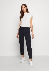Selected Femme - SLFRIA CROPPED PANT - Trousers - dark sapphire - 1