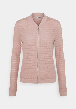 ONLASTER BOMBER JACKET - Cardigan - adobe rose
