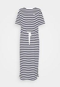 Jersey dress - navy blue/flour