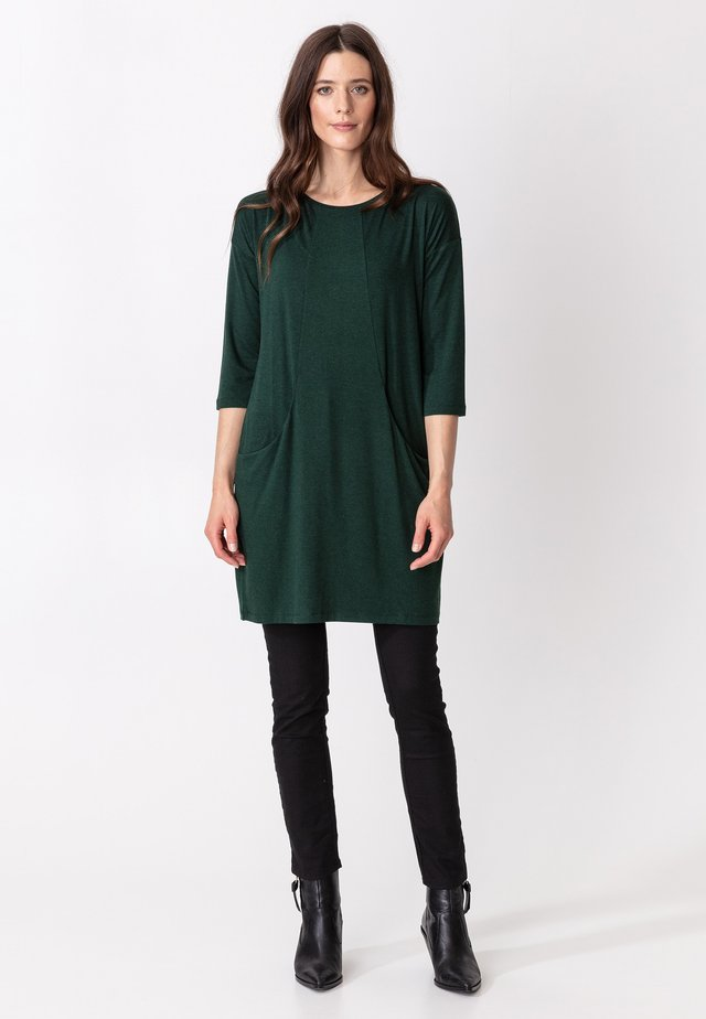 LINDEN - Jersey dress - green