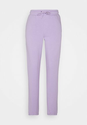 KARDI CUFF TROUSERS - Tracksuit bottoms - lilac purple medium dusty