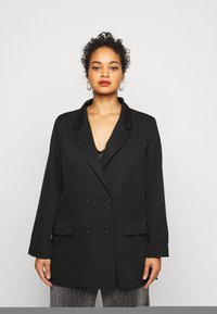 Missguided Plus - DOUBLE BREASTED - Blazer - black - 0