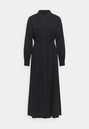 DRESS, FEMININE FLARED, SHIRT DETAILS - Maxi dress - dark blue