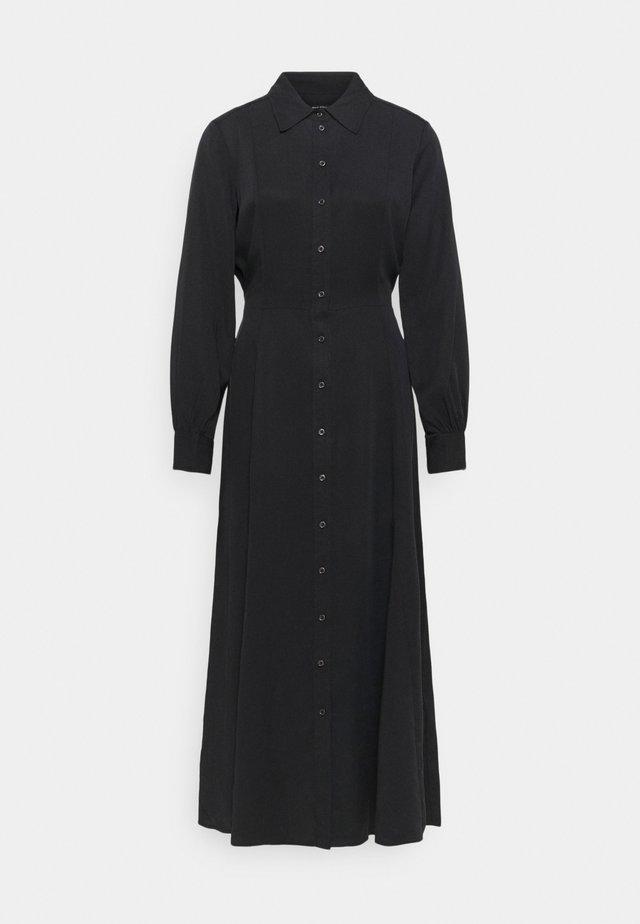 DRESS, FEMININE FLARED, SHIRT DETAILS - Maxi-jurk - dark blue