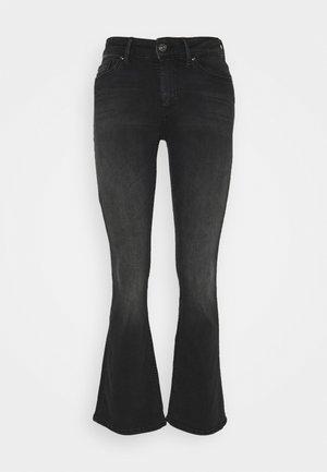 ONLBLUSH LIFE MID  - Široké džíny - black