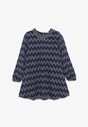 DRESS - Gebreide jurk - blue