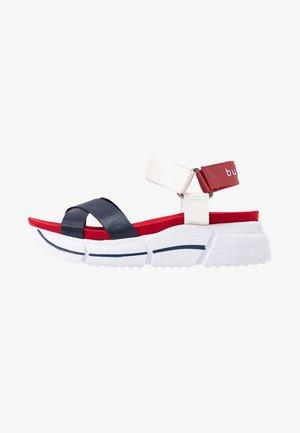 RAJA - Platform sandals - dark blue/white