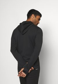 adidas Performance - AEROREADY TRAINING SPORTS SLIM HOODED JACKET - veste en sweat zippée - black/white