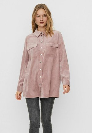 Button-down blouse - wistful mauve