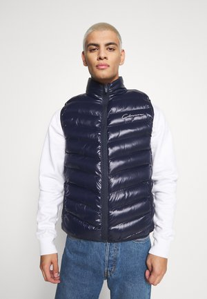 QUILTED GILET - Waistcoat - navy