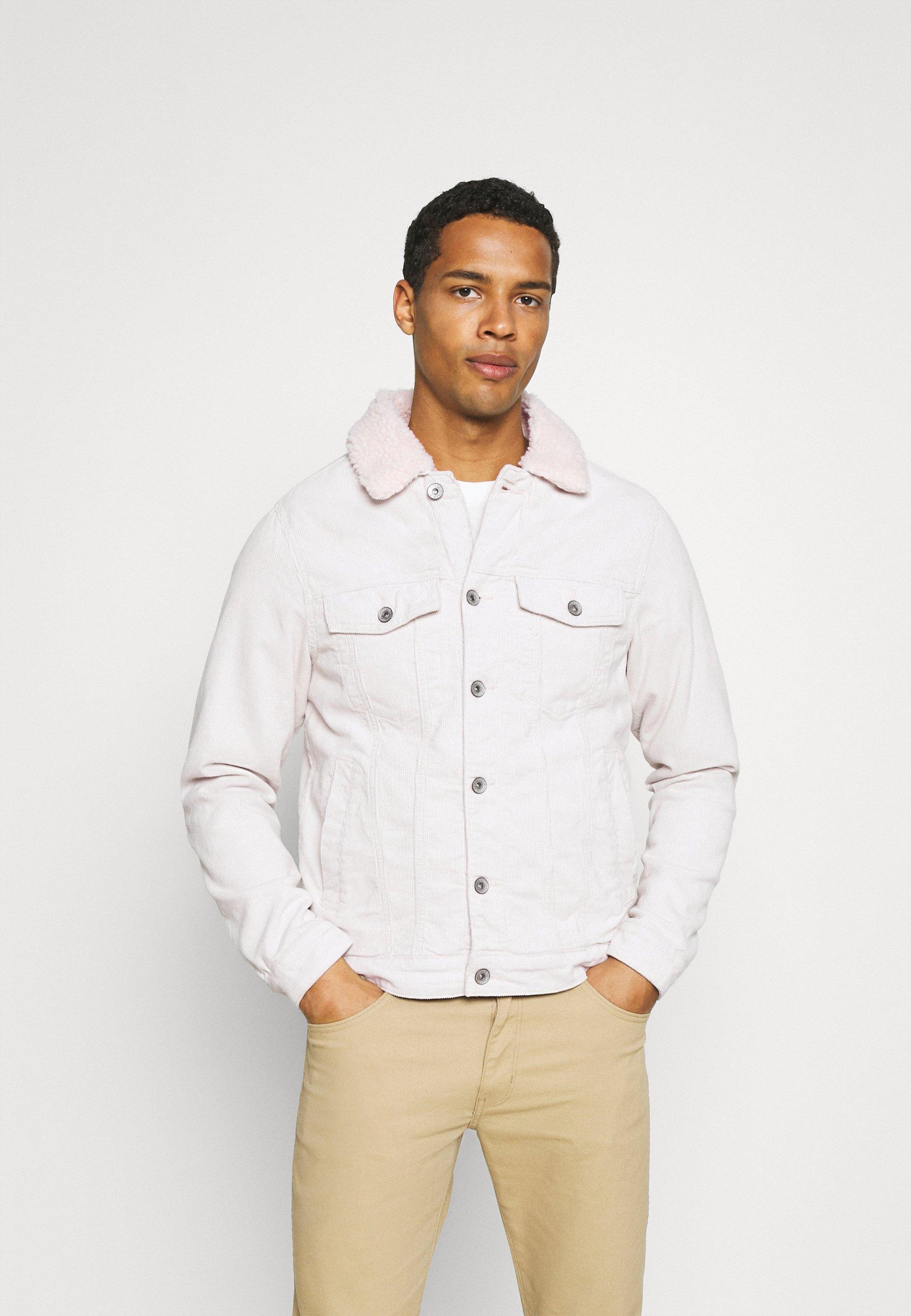 Women UNISEX BORG JACKET - Denim jacket