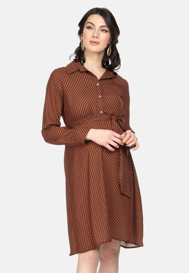 ANNE - Shirt dress - cinder chain