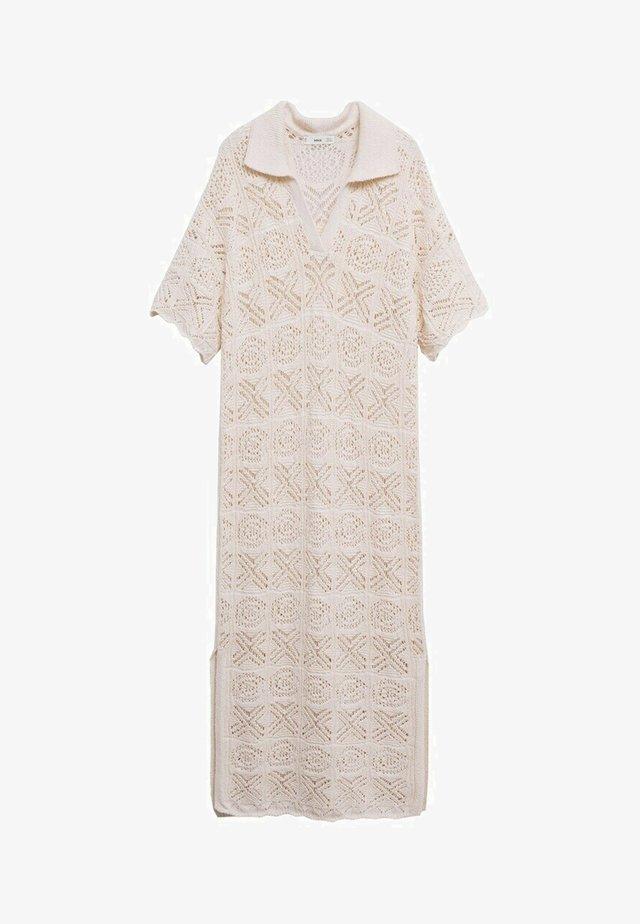 Gebreide jurk - ecru