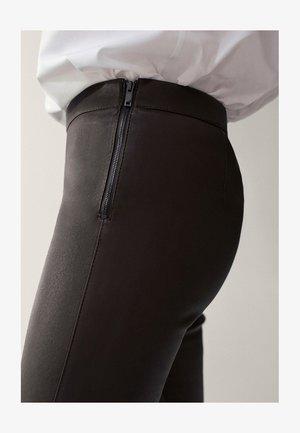 Pantaloni di pelle - khaki