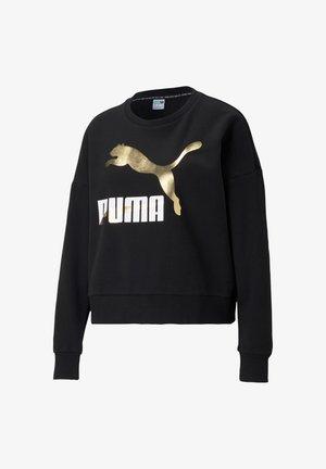 Sweatshirt - schwarzweissgold