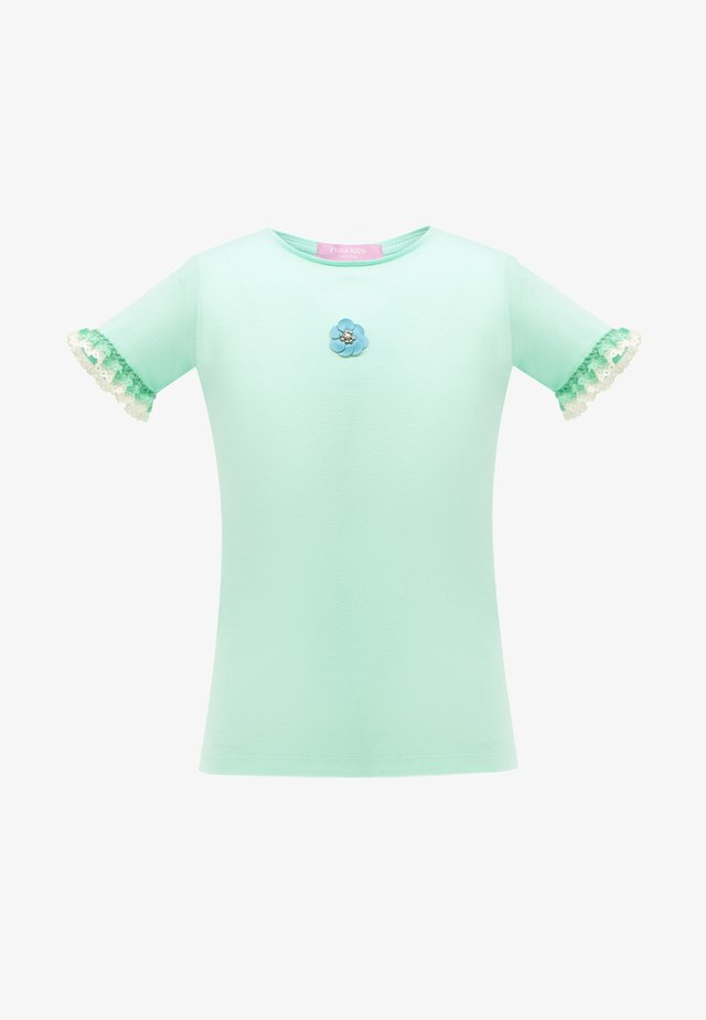 WITH FLOWER - T-shirt con stampa - green