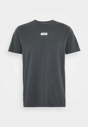 SMALL LOGO TEE - T-shirt z nadrukiem - blue graphite