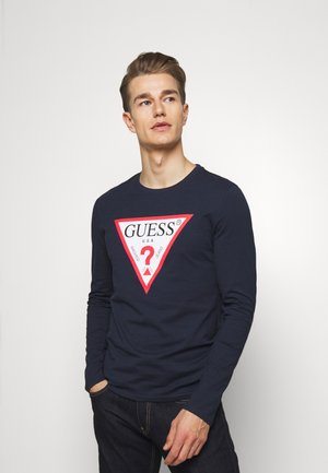 ORIGINAL LOGO - Long sleeved top - blue navy