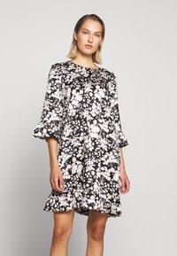 Rebecca Minkoff - FEDERICA DRESS - Denní šaty - black/cream - 0
