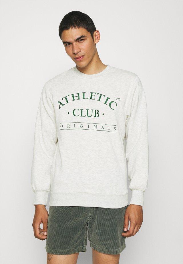 JORTOBIAS CREW NECK UNISEX - Sweatshirts - white melange