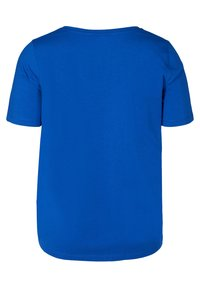 Zizzi - Basic T-shirt - blue - 4