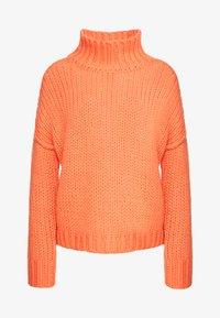 HUGO - STELLY - Stickad tröja - bright orange - 3