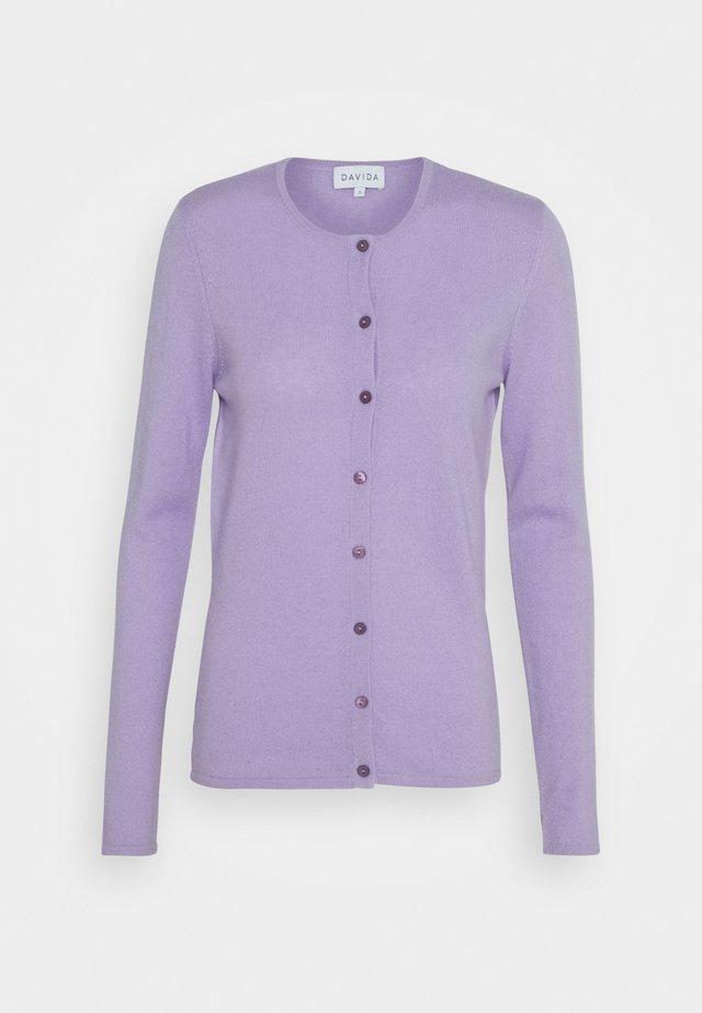 CLASSIC CARDIGAN - Strickjacke - lavender