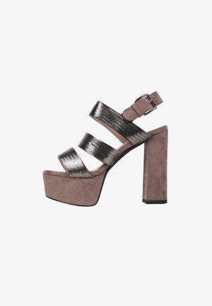 BRITNEY - Platform sandals - greyish brown