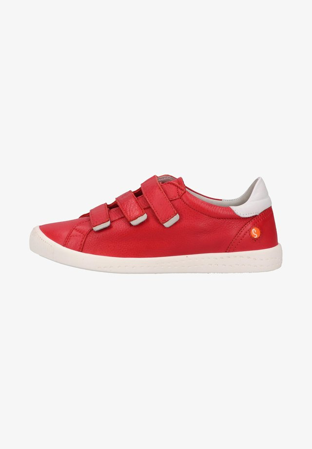 Sneakers laag - cherry red/white