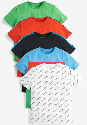 5 PACK T-SHIRTS (3-16YRS) - Print T-shirt - red