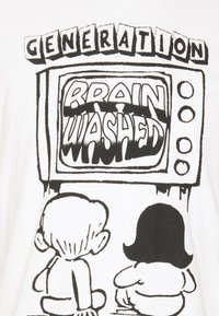 PRAY - BRAINWASHED UNISEX - Print T-shirt - white - 2
