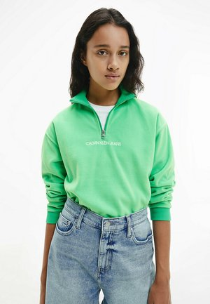 POLAR ZIP NECK  - Forro polar - light green