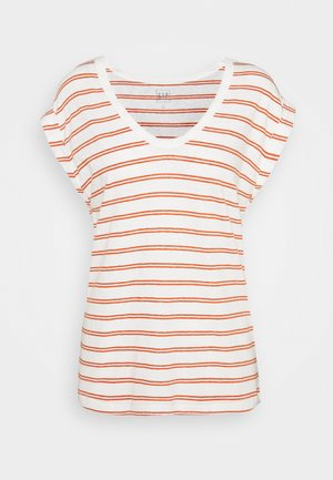 AUTH TEE - T-shirt z nadrukiem - red