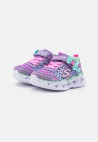 Skechers - HEART LIGHTS - Trainers - lavender/aqua/pink - 1