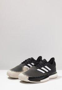 adidas Performance - SOLECOURT BOOST CLAY - Tennisskor för grus - clear black/footwear white/raw white - 2