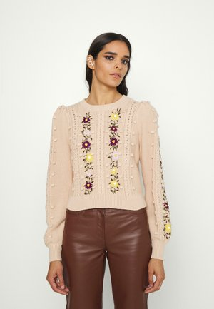 ENID PUFF RELAXED  - Trui - almond/multi