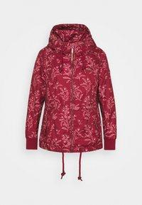 Ragwear Plus - DANKA LEAVES - Krátký kabát - wine red - 0