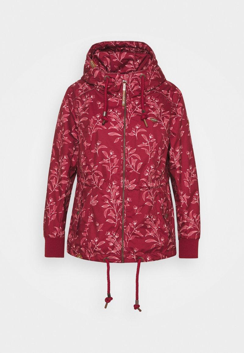 Ragwear Plus - DANKA LEAVES - Krátký kabát - wine red