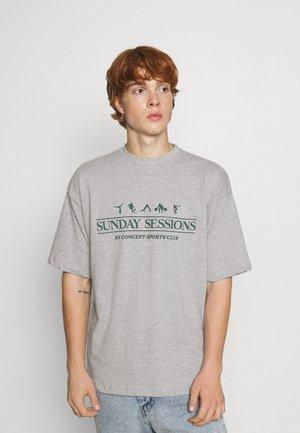 SESSIONS UNISEX - T-shirt print - grey marl