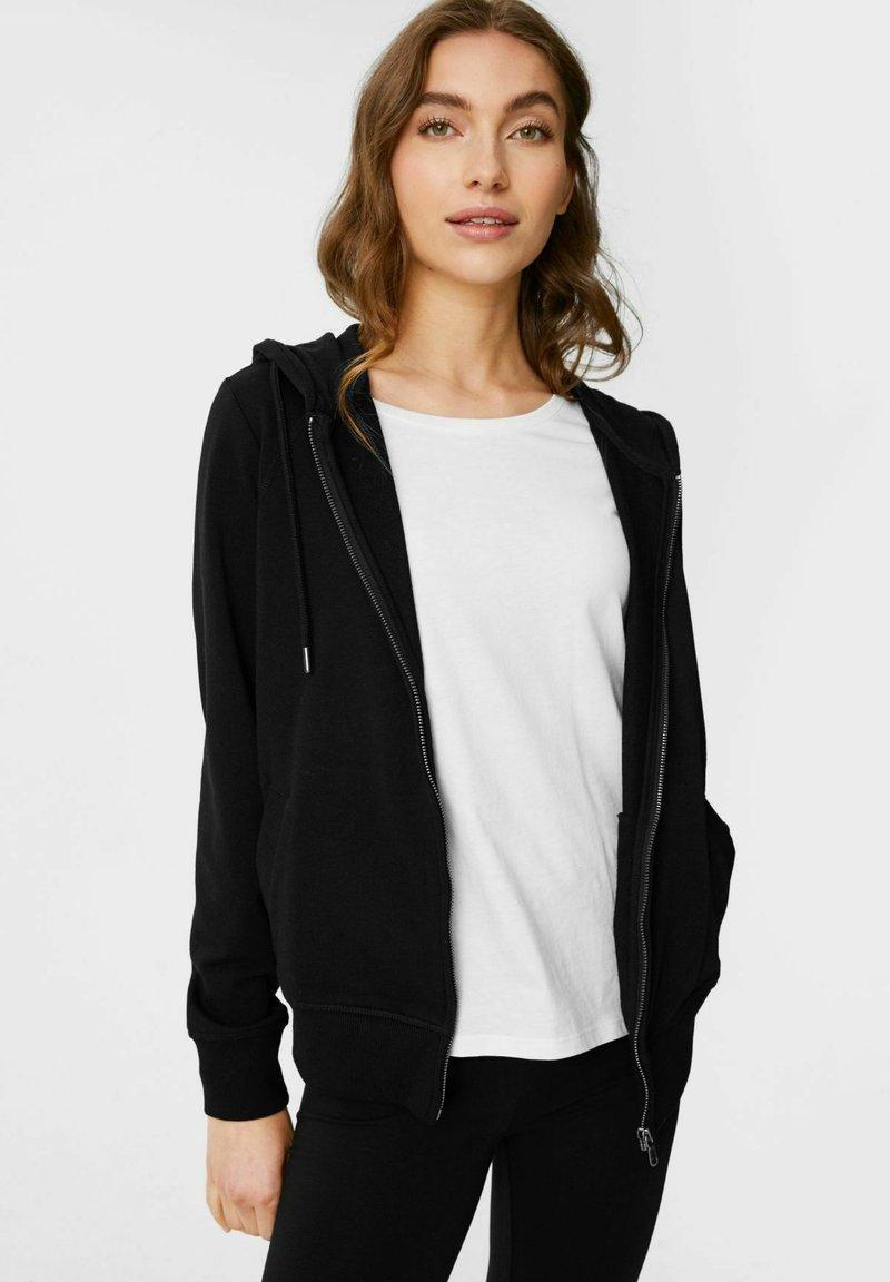 C&A - Zip-up sweatshirt - black