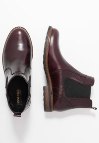 Anna Field Select - LEATHER ANKLE BOOTS - Ankle Boot - bordeaux - 3