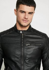 Jack & Jones - JJEROCKY JACKET - Faux leather jacket - black - 4