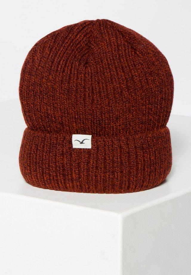SLKTN Solekitchen Woven Label Beanie Mütze maroon red weinrot 011016FA16mrn NEU