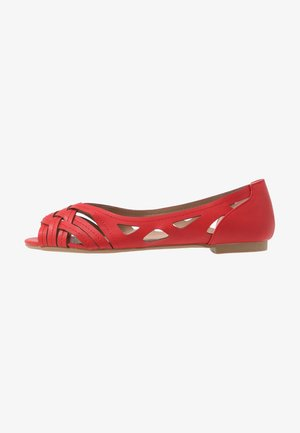 WIDE FIT PEARLENE  - Bailarinas peeptoe - red