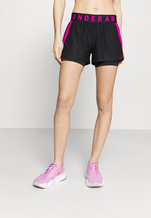 PLAY UP SHORTS - Pantalón corto de deporte - black